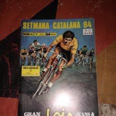Coleccionismo deportivo: XXI SETMANA CATLANA DE CICLISMO. 1984. LIBRO DE RUTA. COMO NUEVO. Lote 235570320