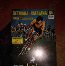 Coleccionismo deportivo: XXII SETMANA CATLANA DE CICLISMO. 1985. LIBRO DE RUTA. COMO NUEVO. Lote 235570710