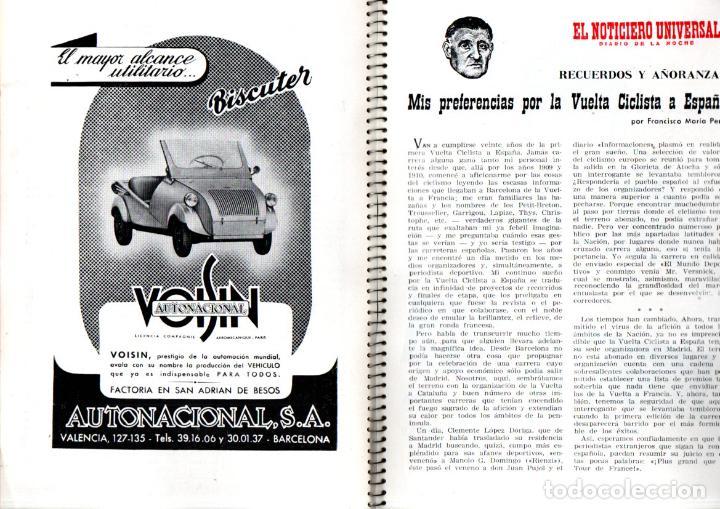 Coleccionismo deportivo: VUELTA CICLISTA A ESPAÑA 1955 - 120 PÁGINAS - PUBLICIDAD BISCUTER, COCA-COLA.... - Foto 2 - 236112470