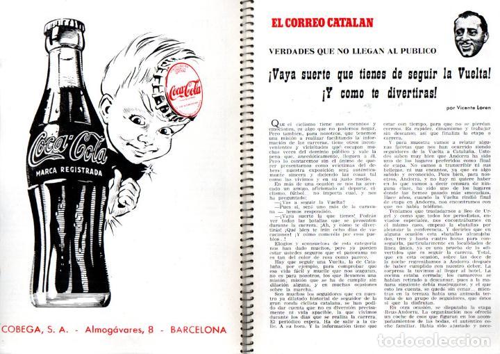 Coleccionismo deportivo: VUELTA CICLISTA A ESPAÑA 1955 - 120 PÁGINAS - PUBLICIDAD BISCUTER, COCA-COLA.... - Foto 3 - 236112470