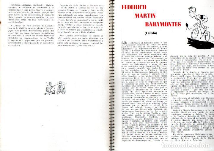 Coleccionismo deportivo: VUELTA CICLISTA A ESPAÑA 1955 - 120 PÁGINAS - PUBLICIDAD BISCUTER, COCA-COLA.... - Foto 6 - 236112470