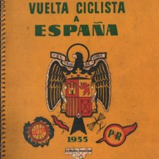 Coleccionismo deportivo: VUELTA CICLISTA A ESPAÑA 1955 - 120 PÁGINAS - PUBLICIDAD BISCUTER, COCA-COLA..... Lote 236112470