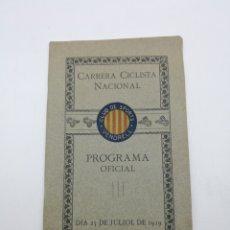 Coleccionismo deportivo: CARRERA CICLISTA NACIONAL COPA DEL REI 1919 VENDRELL. Lote 247354235