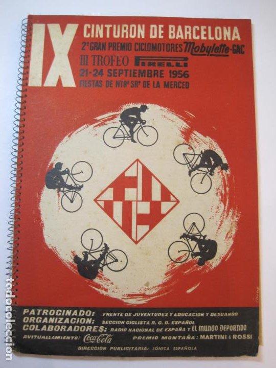 Coleccionismo deportivo: CICLISMO-IX CINTURON DE BARCELONA-2º GRAN PREMIO CICLOMOTORES MOBYLETTE-AÑO 1956-VER FOTOS-(K-2347) - Foto 2 - 255000300