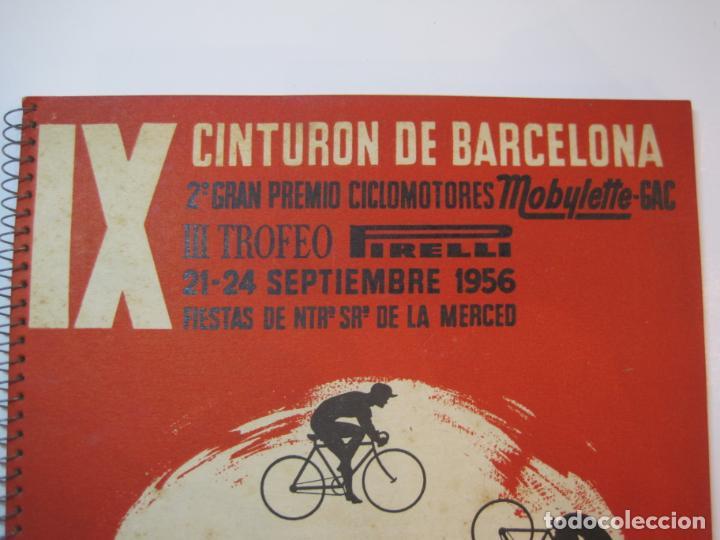 Coleccionismo deportivo: CICLISMO-IX CINTURON DE BARCELONA-2º GRAN PREMIO CICLOMOTORES MOBYLETTE-AÑO 1956-VER FOTOS-(K-2347) - Foto 3 - 255000300
