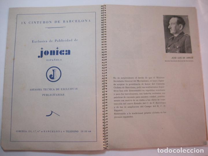 Coleccionismo deportivo: CICLISMO-IX CINTURON DE BARCELONA-2º GRAN PREMIO CICLOMOTORES MOBYLETTE-AÑO 1956-VER FOTOS-(K-2347) - Foto 10 - 255000300
