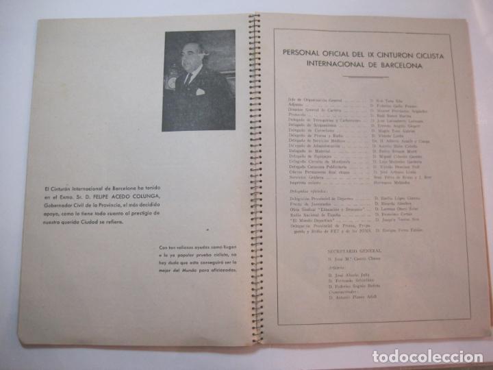 Coleccionismo deportivo: CICLISMO-IX CINTURON DE BARCELONA-2º GRAN PREMIO CICLOMOTORES MOBYLETTE-AÑO 1956-VER FOTOS-(K-2347) - Foto 13 - 255000300
