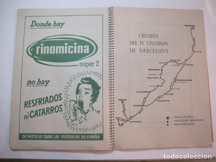 Coleccionismo deportivo: CICLISMO-IX CINTURON DE BARCELONA-2º GRAN PREMIO CICLOMOTORES MOBYLETTE-AÑO 1956-VER FOTOS-(K-2347) - Foto 15 - 255000300