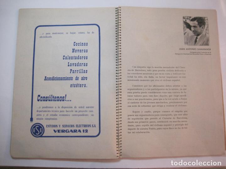 Coleccionismo deportivo: CICLISMO-IX CINTURON DE BARCELONA-2º GRAN PREMIO CICLOMOTORES MOBYLETTE-AÑO 1956-VER FOTOS-(K-2347) - Foto 16 - 255000300