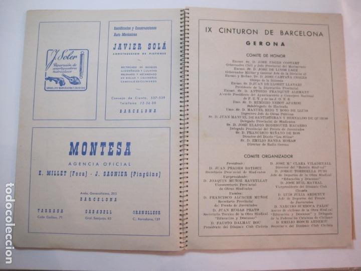 Coleccionismo deportivo: CICLISMO-IX CINTURON DE BARCELONA-2º GRAN PREMIO CICLOMOTORES MOBYLETTE-AÑO 1956-VER FOTOS-(K-2347) - Foto 17 - 255000300