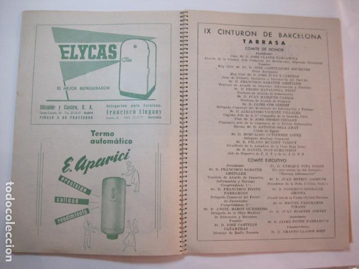 Coleccionismo deportivo: CICLISMO-IX CINTURON DE BARCELONA-2º GRAN PREMIO CICLOMOTORES MOBYLETTE-AÑO 1956-VER FOTOS-(K-2347) - Foto 19 - 255000300