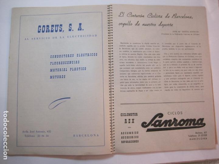 Coleccionismo deportivo: CICLISMO-IX CINTURON DE BARCELONA-2º GRAN PREMIO CICLOMOTORES MOBYLETTE-AÑO 1956-VER FOTOS-(K-2347) - Foto 20 - 255000300