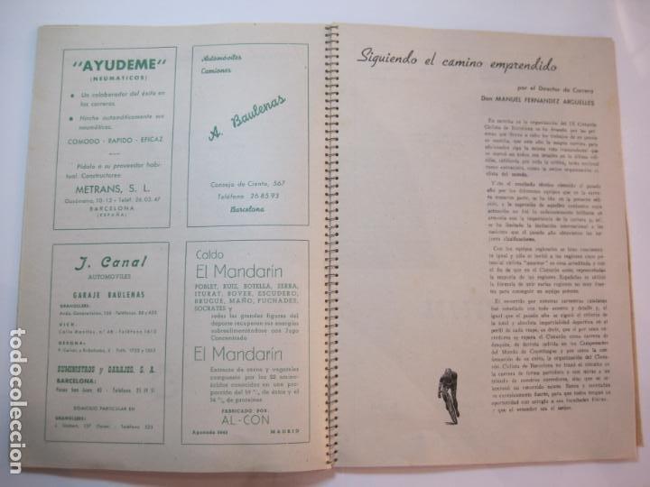 Coleccionismo deportivo: CICLISMO-IX CINTURON DE BARCELONA-2º GRAN PREMIO CICLOMOTORES MOBYLETTE-AÑO 1956-VER FOTOS-(K-2347) - Foto 24 - 255000300