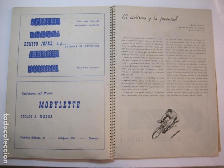 Coleccionismo deportivo: CICLISMO-IX CINTURON DE BARCELONA-2º GRAN PREMIO CICLOMOTORES MOBYLETTE-AÑO 1956-VER FOTOS-(K-2347) - Foto 25 - 255000300