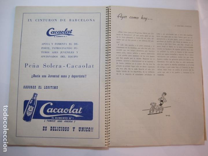 Coleccionismo deportivo: CICLISMO-IX CINTURON DE BARCELONA-2º GRAN PREMIO CICLOMOTORES MOBYLETTE-AÑO 1956-VER FOTOS-(K-2347) - Foto 26 - 255000300