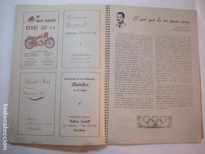 Coleccionismo deportivo: CICLISMO-IX CINTURON DE BARCELONA-2º GRAN PREMIO CICLOMOTORES MOBYLETTE-AÑO 1956-VER FOTOS-(K-2347) - Foto 27 - 255000300
