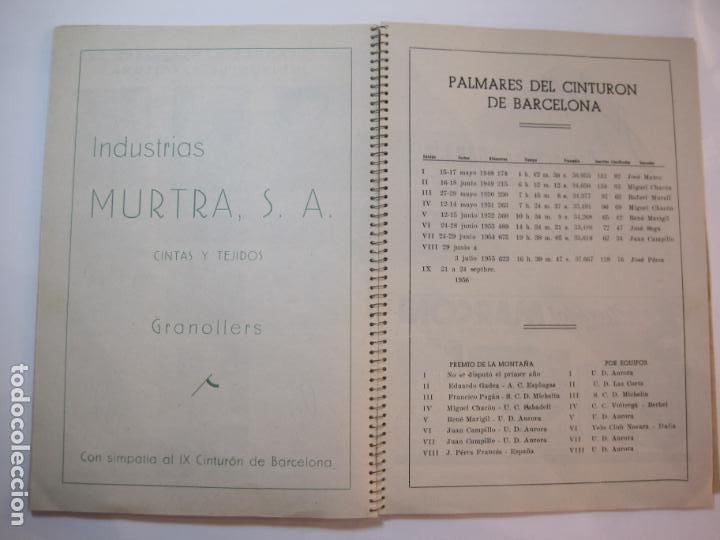 Coleccionismo deportivo: CICLISMO-IX CINTURON DE BARCELONA-2º GRAN PREMIO CICLOMOTORES MOBYLETTE-AÑO 1956-VER FOTOS-(K-2347) - Foto 29 - 255000300