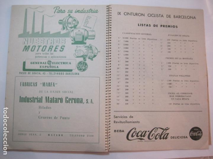 Coleccionismo deportivo: CICLISMO-IX CINTURON DE BARCELONA-2º GRAN PREMIO CICLOMOTORES MOBYLETTE-AÑO 1956-VER FOTOS-(K-2347) - Foto 35 - 255000300