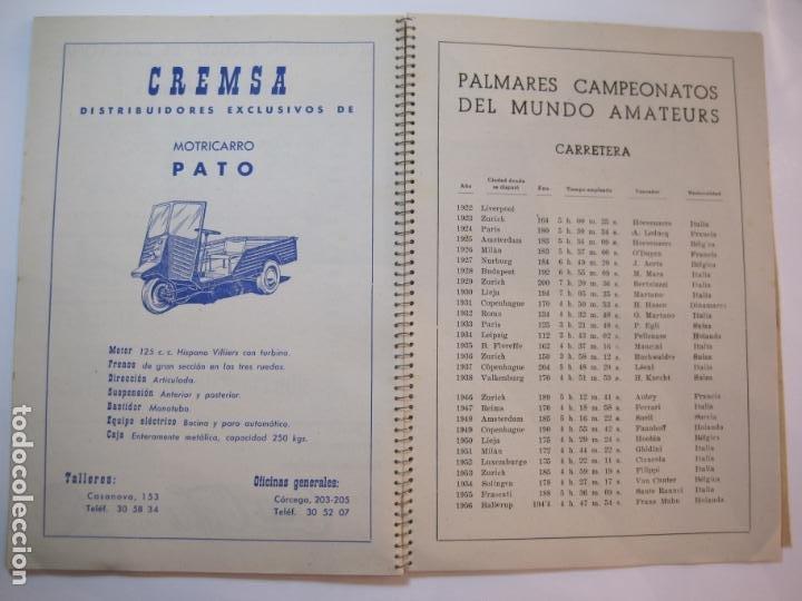 Coleccionismo deportivo: CICLISMO-IX CINTURON DE BARCELONA-2º GRAN PREMIO CICLOMOTORES MOBYLETTE-AÑO 1956-VER FOTOS-(K-2347) - Foto 36 - 255000300