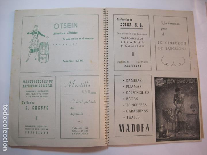 Coleccionismo deportivo: CICLISMO-IX CINTURON DE BARCELONA-2º GRAN PREMIO CICLOMOTORES MOBYLETTE-AÑO 1956-VER FOTOS-(K-2347) - Foto 37 - 255000300