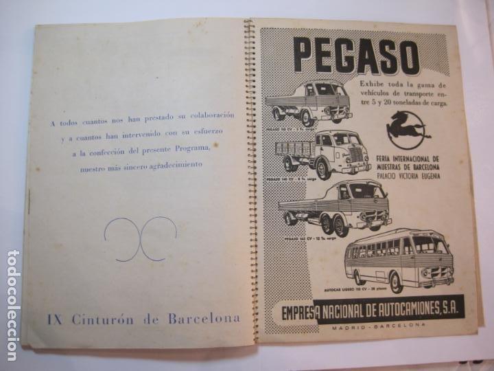 Coleccionismo deportivo: CICLISMO-IX CINTURON DE BARCELONA-2º GRAN PREMIO CICLOMOTORES MOBYLETTE-AÑO 1956-VER FOTOS-(K-2347) - Foto 39 - 255000300