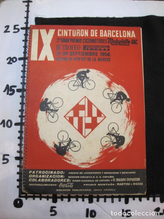 Coleccionismo deportivo: CICLISMO-IX CINTURON DE BARCELONA-2º GRAN PREMIO CICLOMOTORES MOBYLETTE-AÑO 1956-VER FOTOS-(K-2347) - Foto 41 - 255000300
