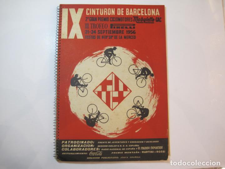 CICLISMO-IX CINTURON DE BARCELONA-2º GRAN PREMIO CICLOMOTORES MOBYLETTE-AÑO 1956-VER FOTOS-(K-2347) (Coleccionismo Deportivo - Libros de Ciclismo)