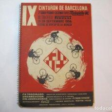 Coleccionismo deportivo: CICLISMO-IX CINTURON DE BARCELONA-2º GRAN PREMIO CICLOMOTORES MOBYLETTE-AÑO 1956-VER FOTOS-(K-2347). Lote 255000300