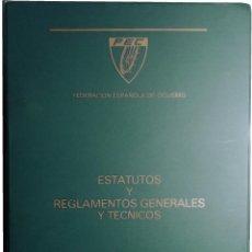 Coleccionismo deportivo: ESTATUTOS Y REGLAMENTOS GENERALES Y TÉCNICOS. MADRID : FEDERACIÓN ESPAÑOLA DE CICLISMO, 1987.. Lote 266647673