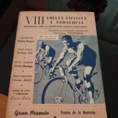 Coleccionismo deportivo: VIII VUELTA CICLISTA A ANDALUCÍA 1961 CON PUBLICIDAD CERVEZA VICTORIA. Lote 278691023