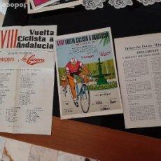 Coleccionismo deportivo: XVIII VUELTA CICLISTA A ANDALUCÍA 1971 CON CARTEL Y REGLAMENTO. Lote 278693228