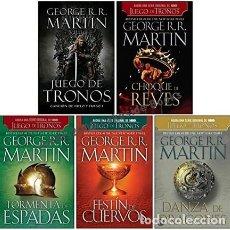 Libros: SET COLECCIÓN JUEGO DE TRONOS (INCLUYE LOS 5 LIBROS) POR GEORGE MARTIN. Lote 98689950