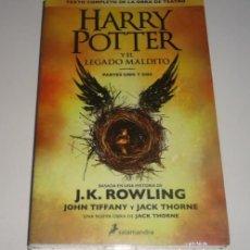 Libros: HARRY POTTER Y EL LEGADO MALDITO POR J. K. ROWLING. Lote 96798199