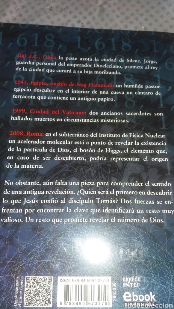 Libros: EL NÚMERO DE DIOS DE VINCENZO DI PIETRO - Foto 2 - 124182908