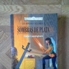 Libros: ELAINE CUNNINGHAM - SOMBRAS DE PLATA - LOS ARPISTAS VOLUMEN 3. Lote 157174446