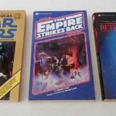 Libros: LOTE 3 LIBROS STAR WARS EMPIRE STRIKES BACK RETURN OF THE JEDI 1A EDICIÓN DEL REY USA. Lote 171325229