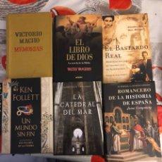 Libros: LOTE DE 6 LIBROS DISTINTAS TEMÁTICAS. Lote 188757353