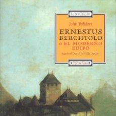 Libros: JOHN POLIDORI. ENESTUS BERCHTOLD O EL MODERNO EDIPO. Lote 197655257