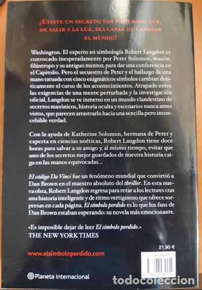 Libros: EL SÍMBOLO PERDIDO - Foto 2 - 201289178