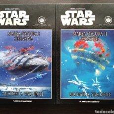 Libros: STAR WARS - MAREA OSCURA 1 Y 2 COMPLETA - NUEVA ORDEN JEDI - PLANETA - INÉDITO. Lote 203996498