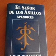 Libros: EL SEÑOR DE LOS ANILLOS. APÉNDICES. Lote 210451482
