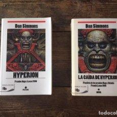 Livros: HYPERIÓN Y LA CAÍDA DE HYPERIÓN. DAN SIMMONS. Lote 214200462