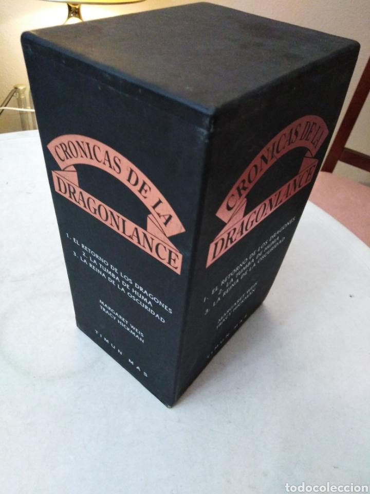 Libros: Crónicas dragonlance, 3 libros + caja ( timun mas ) - Foto 3 - 221424447