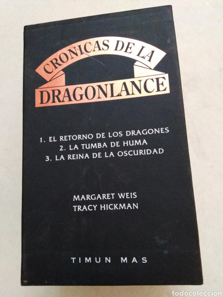 CRÓNICAS DRAGONLANCE, 3 LIBROS + CAJA ( TIMUN MAS ) (Libros Nuevos - Literatura - Narrativa - Ciencia Ficción y Fantasía)