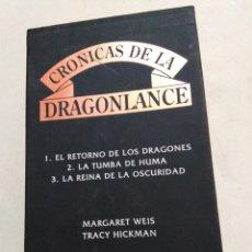 Libros: CRÓNICAS DRAGONLANCE, 3 LIBROS + CAJA ( TIMUN MAS ). Lote 221424447