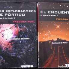 Libros: LA SAGA DE LOS HEECHEE 3-EL ENCUENTRO Y 5-LOS EXPLORADORES DE PÓRTICO, FREDERIK POHL, 2 LIBRS NUEVOS. Lote 252569200