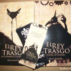 Livros: EL REY TRASGO 1 Y 2 COMPLETO ALBERTO MORAN ROA. Lote 253871150