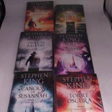 Libros: LA TORRE OSCURA 1 2 3 4 6 Y 7. STEPHEN KING. CIRCULO DE LECTORES. Lote 265468289