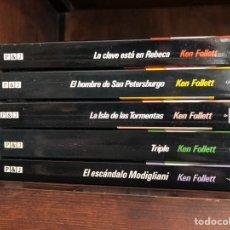 Libros: 5 LIBROS DE BOLSILLO. KEN FOLLETT. Lote 266558028