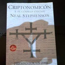 Libros: CRIPTONOMICON: EL CODIGO ENIGMA. Lote 268814259